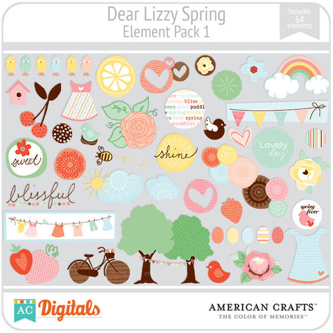 Dear Lizzy Spring Element Pack #1