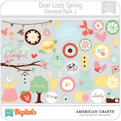 Dear Lizzy Spring Element Pack #2