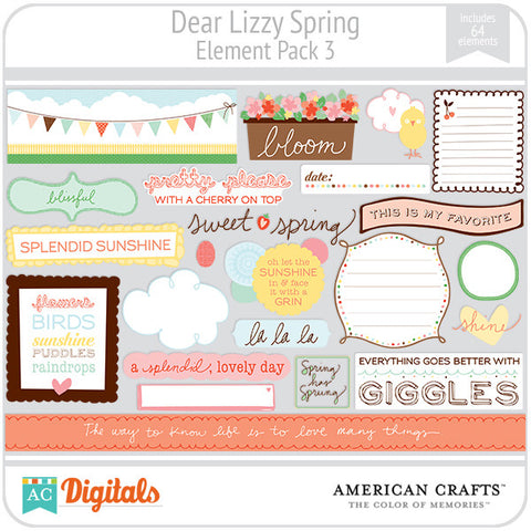 Dear Lizzy Spring Element Pack #3