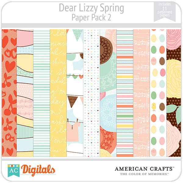Dear Lizzy Spring Paper Pack #2