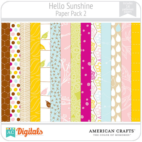Hello Sunshine Paper Pack #2