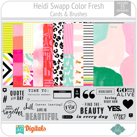 Color Fresh Cards and Brushes
