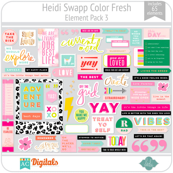 Color Fresh Element Pack 3