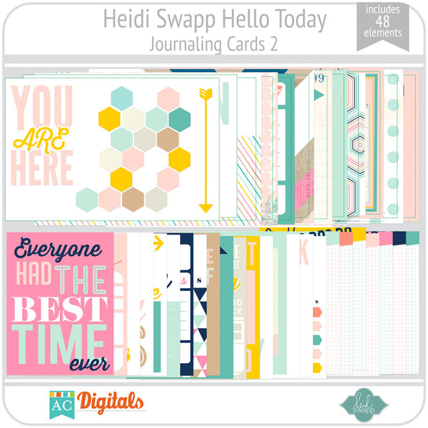 Hello Today Journaling Cards 2