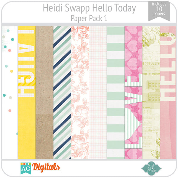 Hello Today Paper Pack 1