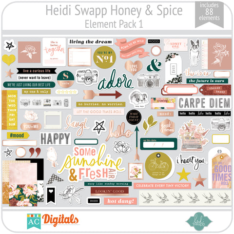 Honey & Spice Element Pack 1