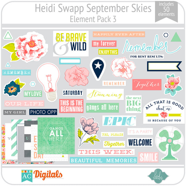 September Skies Element Pack 3