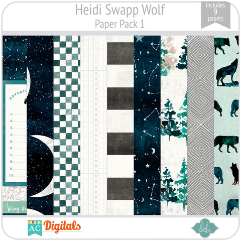 Wolf Paper Pack 1