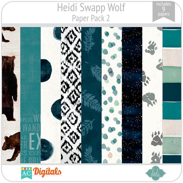 Wolf Paper Pack 2