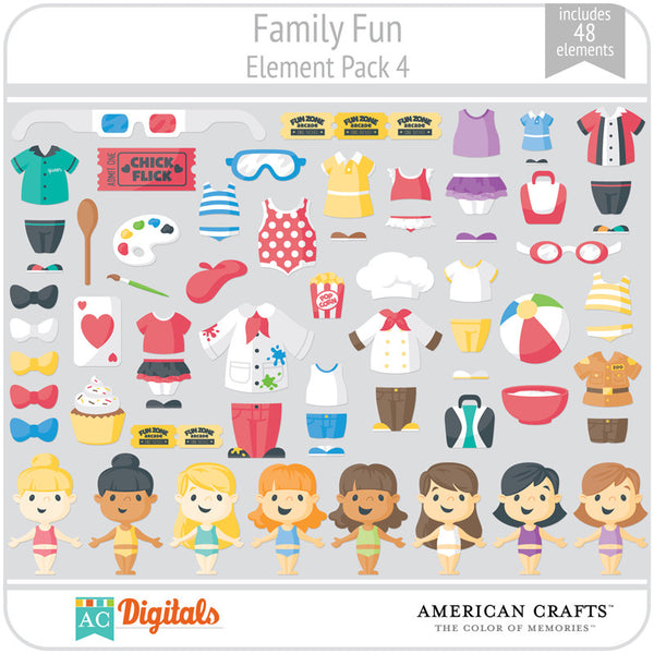 Family Fun Element Pack 4