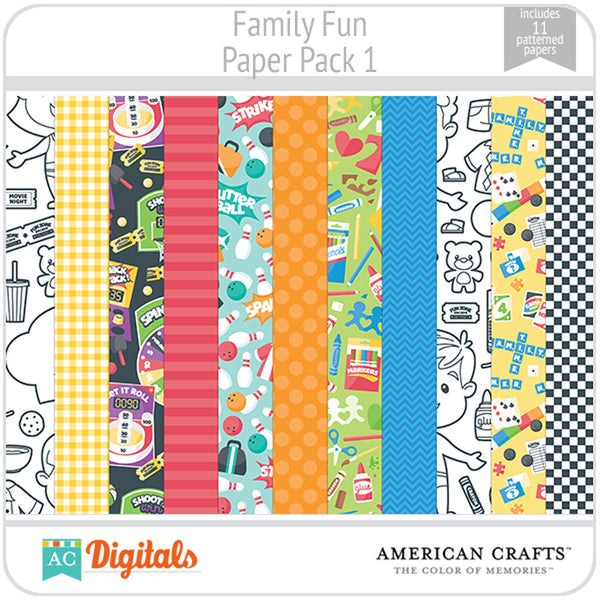 Family Fun Paper Pack 1