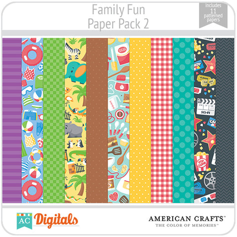 Family Fun Paper Pack 2