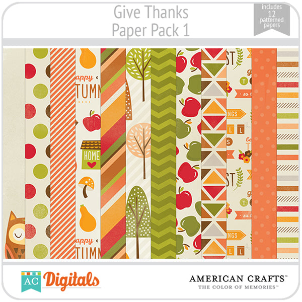 Give Thanks Paper Pack 1