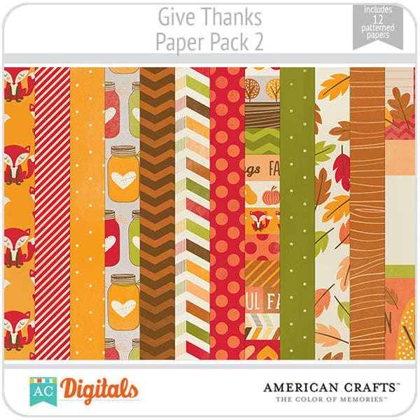 Give Thanks Paper Pack 2