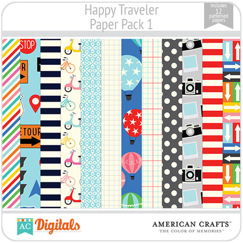 Happy Traveler Paper Pack 1