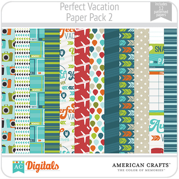 Perfect Vacation Paper Pack 2