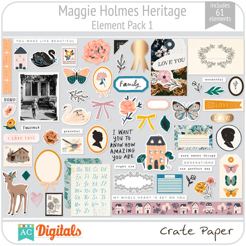 Maggie Holmes Heritage Element Pack 1