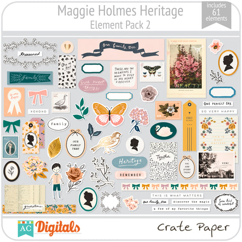 Maggie Holmes Heritage Element Pack 2