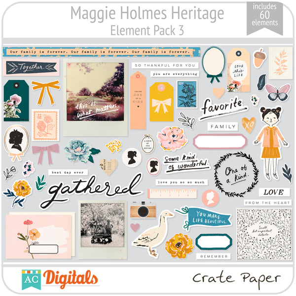 Maggie Holmes Heritage Element Pack 3