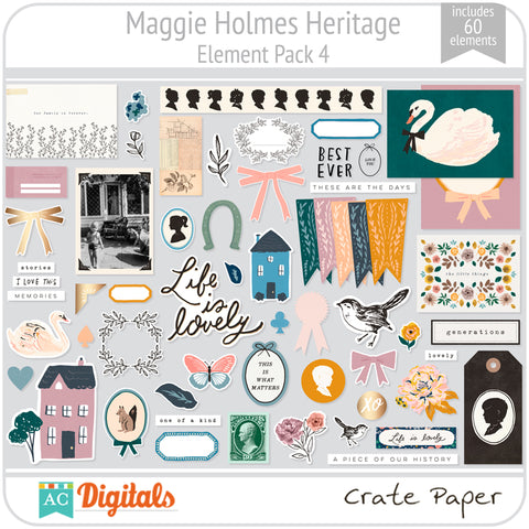 Maggie Holmes Heritage Element Pack 4