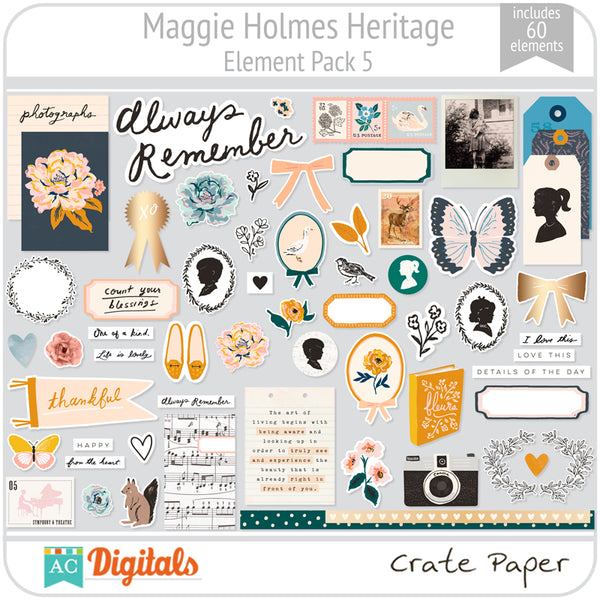 Maggie Holmes Heritage Element Pack 5