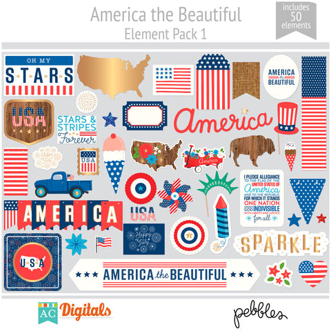 America the Beautiful Element Pack 1