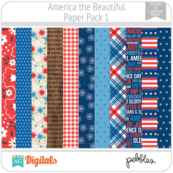 America the Beautiful Paper Pack 1