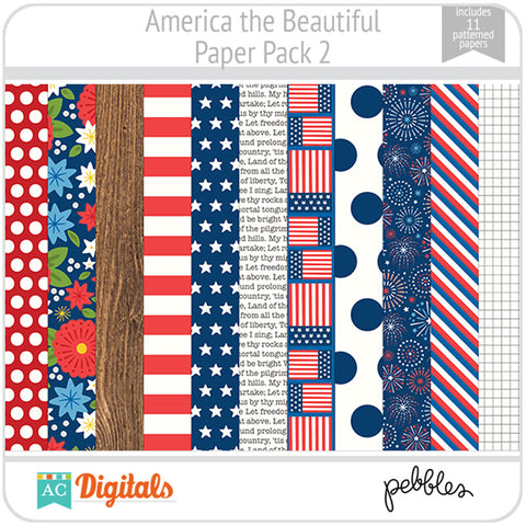 America the Beautiful Paper Pack 2