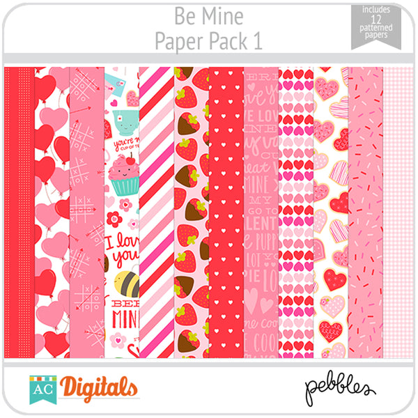 Be Mine Paper Pack 1