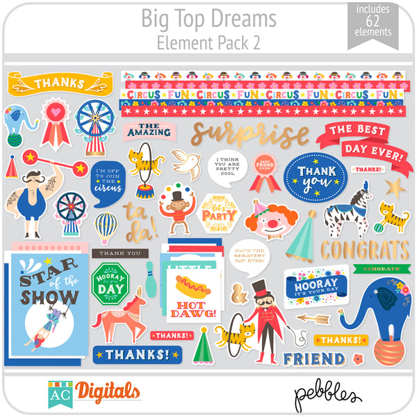 Big Top Dreams Element Pack 2