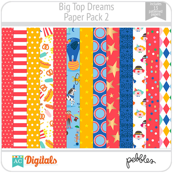 Big Top Dreams Paper Pack 2