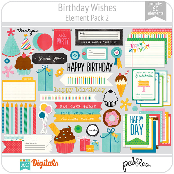 Birthday Wishes Element Pack 2