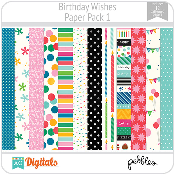 Birthday Wishes Paper Pack 1