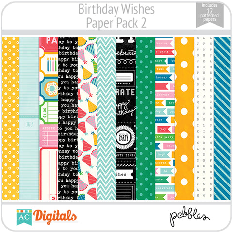Birthday Wishes Paper Pack 2