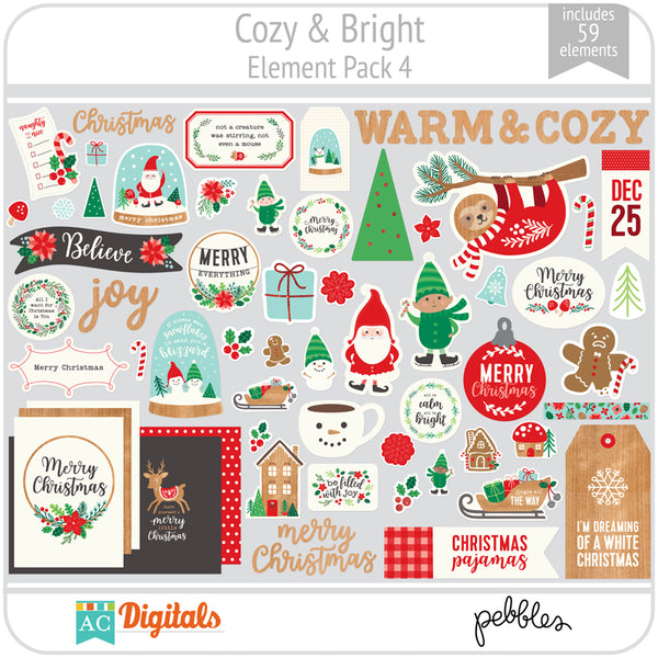 Cozy & Bright Element Pack 4