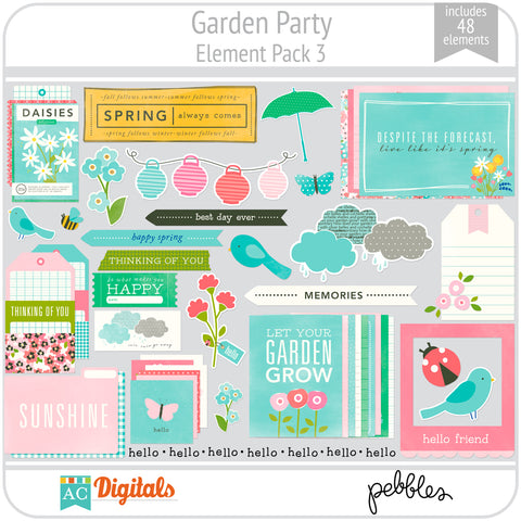 Garden Party Element Pack 3