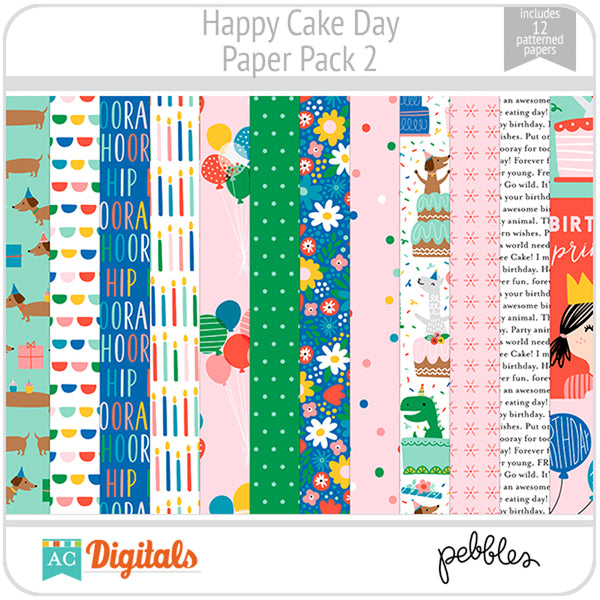 Happy Cake Day Paper Pack 2