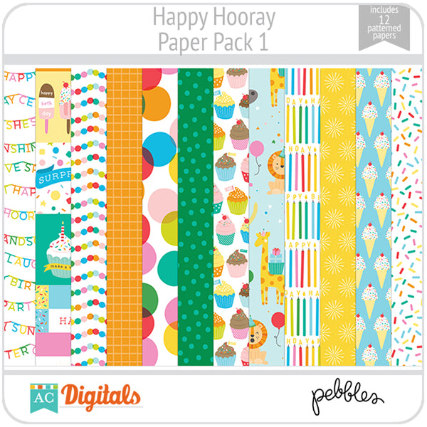 Happy Hooray Paper Pack 1