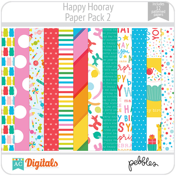 Happy Hooray Paper Pack 2
