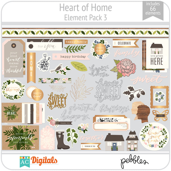 Heart of Home Element Pack 3