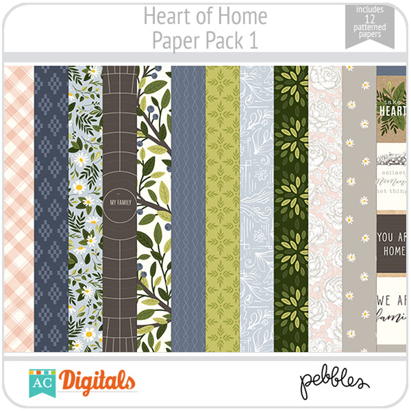 Heart of Home Paper Pack 1