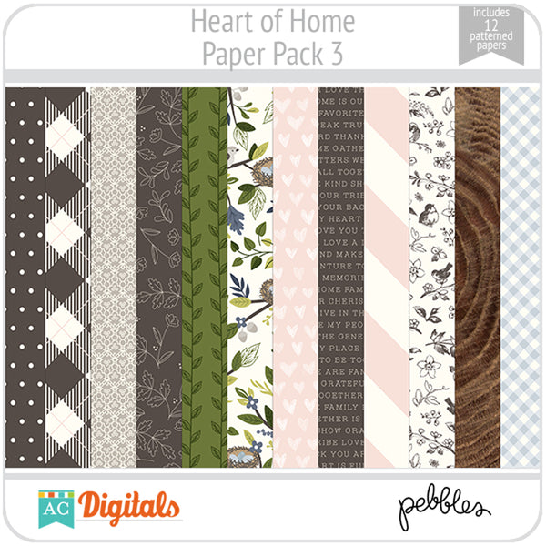 Heart of Home Paper Pack 3