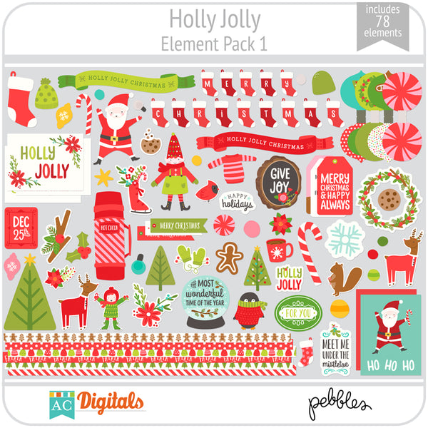 Holly Jolly Element Pack 1