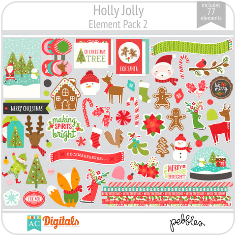 Holly Jolly Element Pack 2