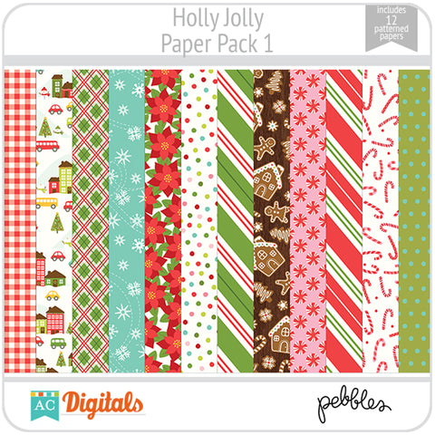 Holly Jolly Paper Pack 1