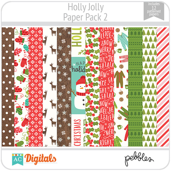 Holly Jolly Paper Pack 2