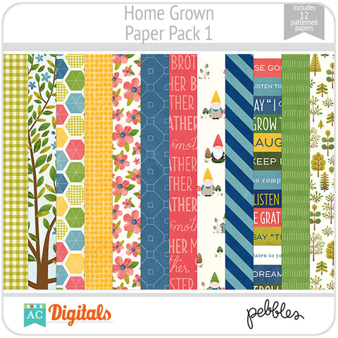 Home Grown Paper Pack 1