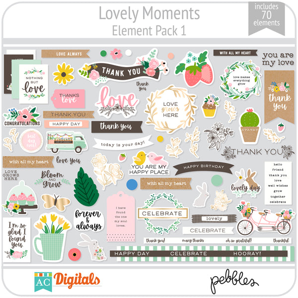 Lovely Moments Element Pack 1