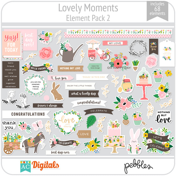 Lovely Moments Element Pack 2
