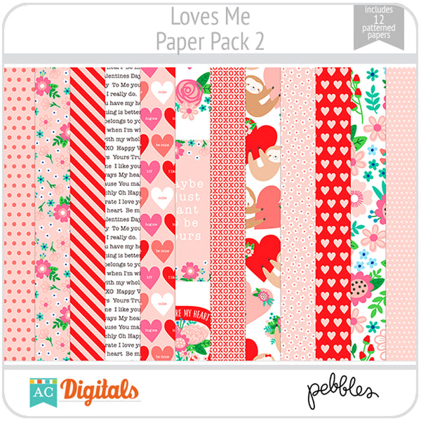 Loves Me Paper Pack 2